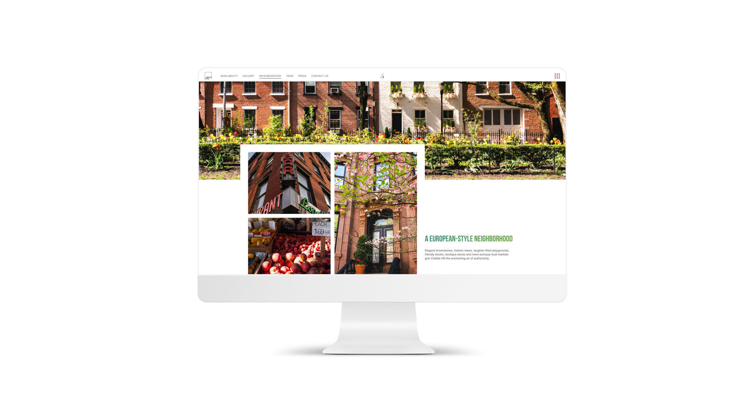 5 River Park neighborhood page website design