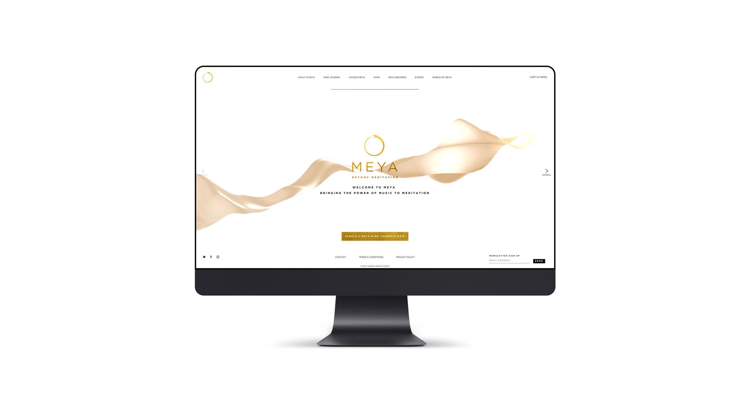 Meya Meditation app website design